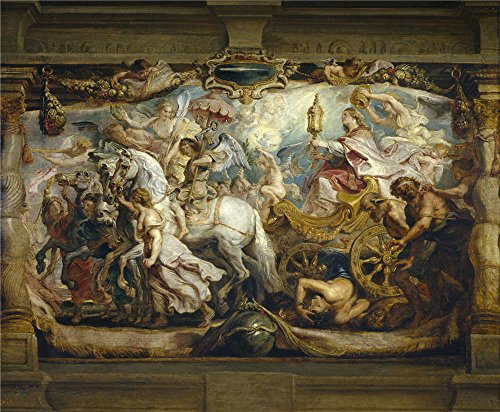 'Rubens Peter Paul Triunfo De La Iglesia 1625 26 ' Oil Painting, 12 X 15 Inch / 30 X 37 Cm ,printed On High Quality Polyster Canvas ,this Vivid Art Decorative Canvas Prints Is Perfectly Suitalbe For Dining Room Decor And Home Artwork And Gifts