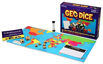 Amazon Com Geotoys Geodice Geography Family Game Educational