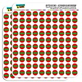 "Transnistria National Country Flag 1/2"" (0.5"") Planner Calendar Scrapbooking Crafting Stickers - Clear"