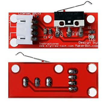 Cikuso 5X Interruptor de Extremo mecánico Rojo con Cable para ...