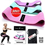 PowerNLean Fabric Resistance Bands | 3Pcs Non-SLip Booty Fabric Resistance Band for Hip Butt Leg & Arm Circle Work…