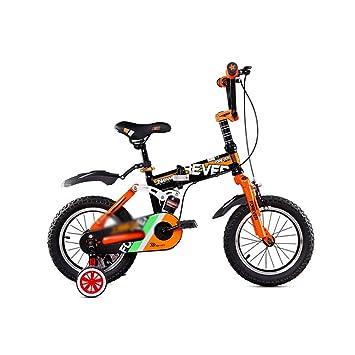 DT Bicicleta Plegable para niños Bicicleta de 14/16 Pulgadas Bicicleta de montaña para Carro de bebé (Color : Orange, Tamaño : 14 Inches): Amazon.es: Hogar