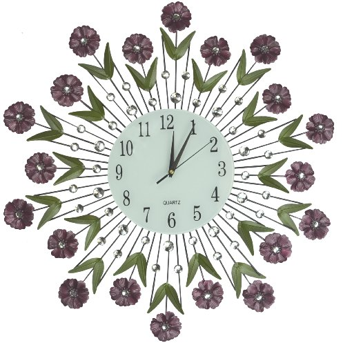 Flower Burst Wall Clock - modern wall clocks - wall art decor