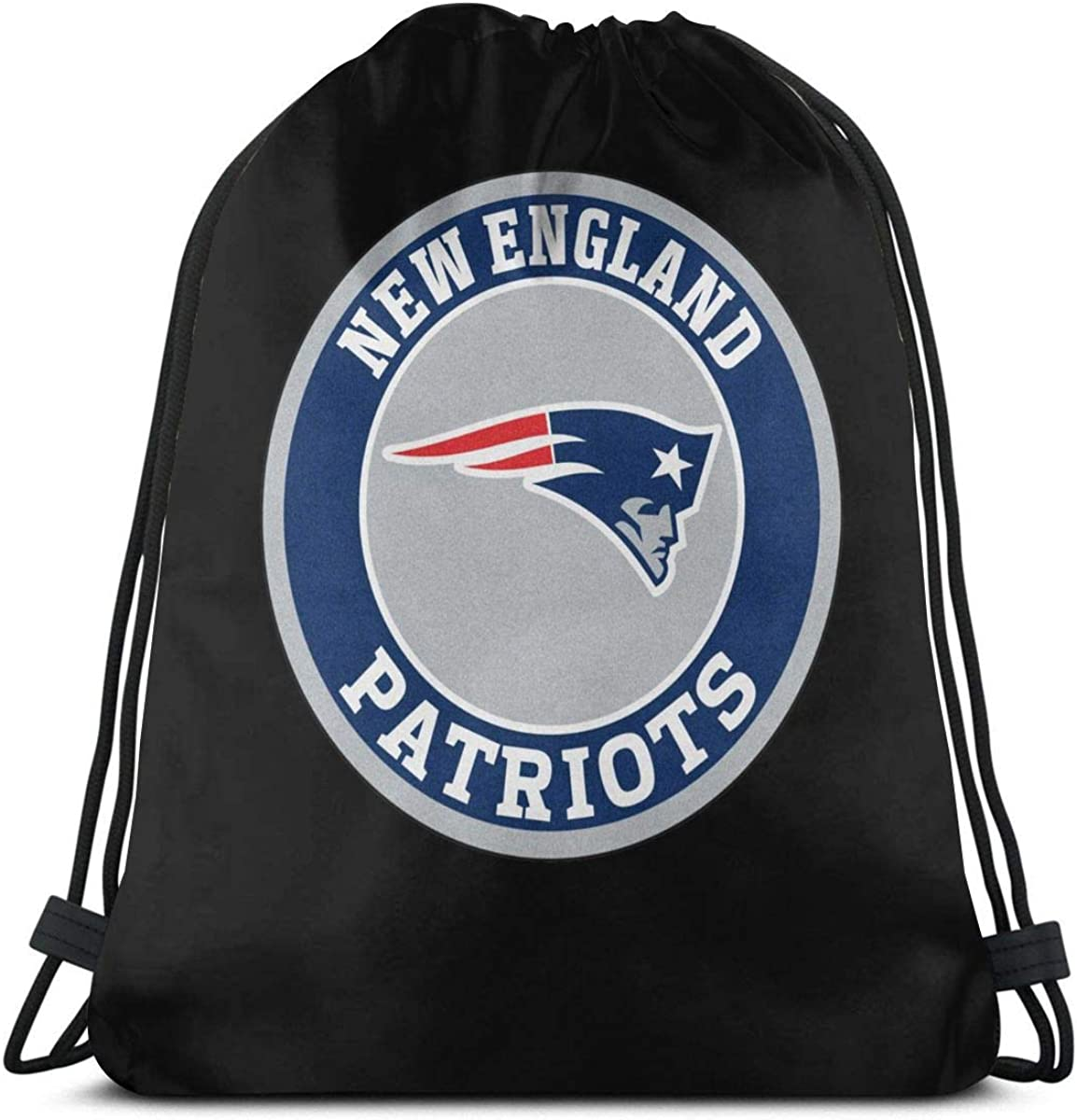 Griffithnelle Graphic Travel Hiking Backpack New England Patriots Drawstring Bags Gym Bag