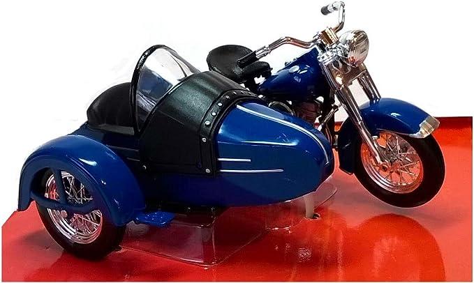 Maisto Model Kompatibel Mit Harley Davidson 1952 Fl Hydra Glide C Sidecar Blue 1 18 Diecast Mi03175 Spielzeug