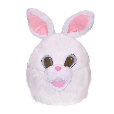Bristol Novelty BM561 Bunny Mask Mascot Men, Women, White: Toys & Games