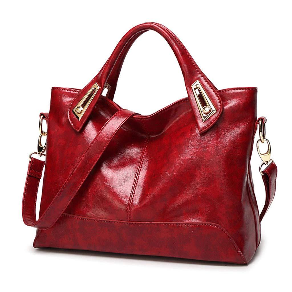 Señoras de La Moda de Gran Capacidad Aceite Cera Color Sólido ...