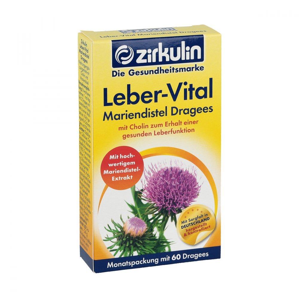 Zirkulin Leber-vital Mariendistel Dragees 60 stk: Amazon.de ...