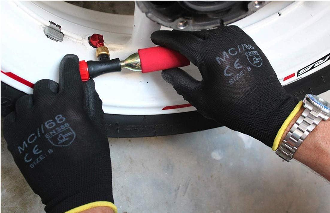 Kit Repara Pneumaticos Moto CO2 Remplazo Kit Repara pinchazos Moto//Kit Reparaci/òn Llantas