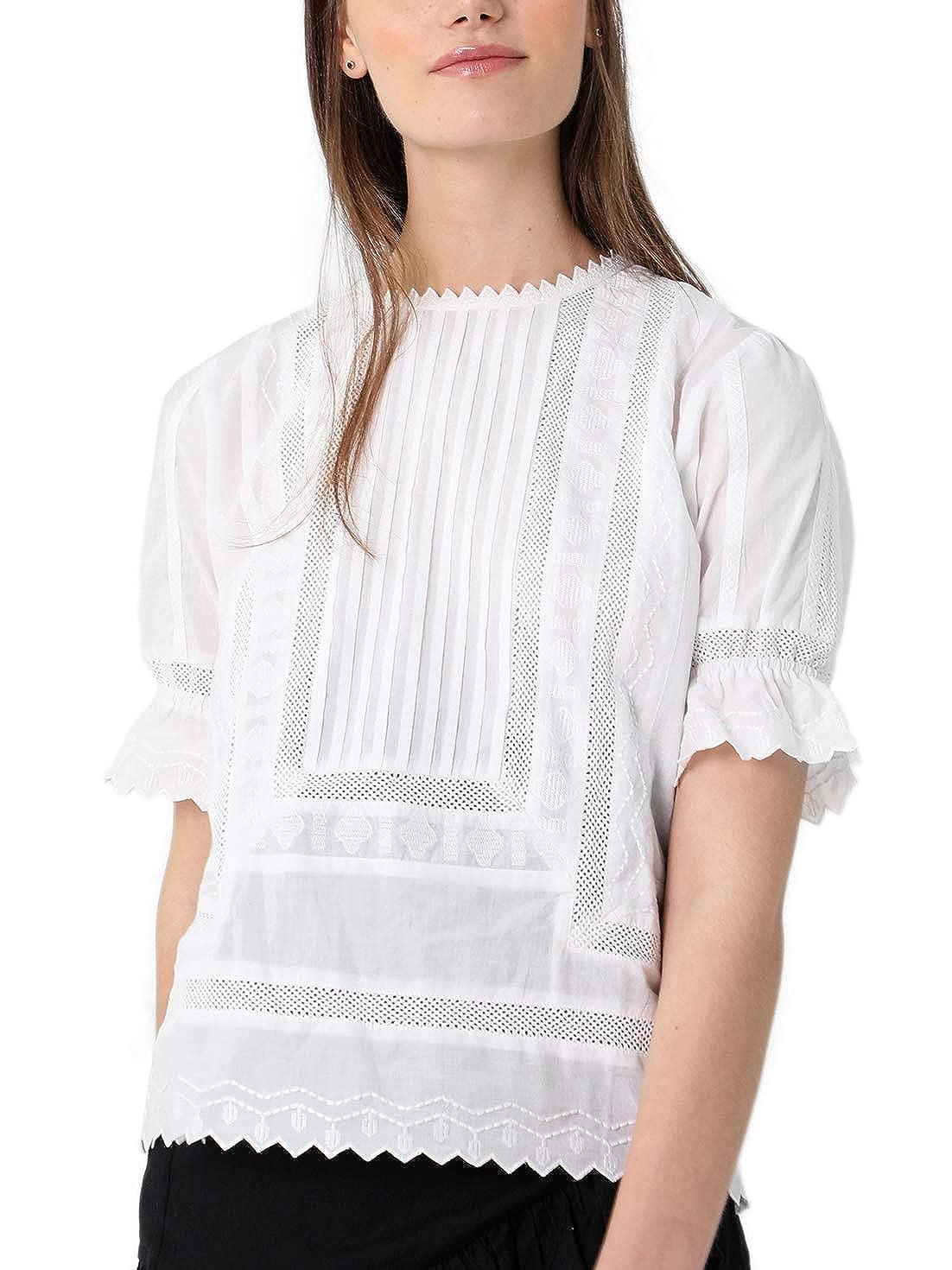 Camisa para Mujer Scalpers Camisa Manga Corta ENTREDOS
