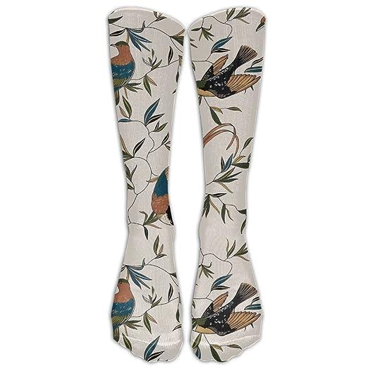 bc58e76d44212 Birds Party Athletic Tube Stockings Women's Men's Classics Knee High Socks  Sport Long Sock ...