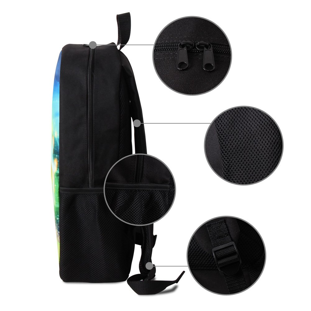 Dispalang Violin 3D Print Backpack for Children Art School Bookbag for Girls Shoulder Back Pack orangepromise