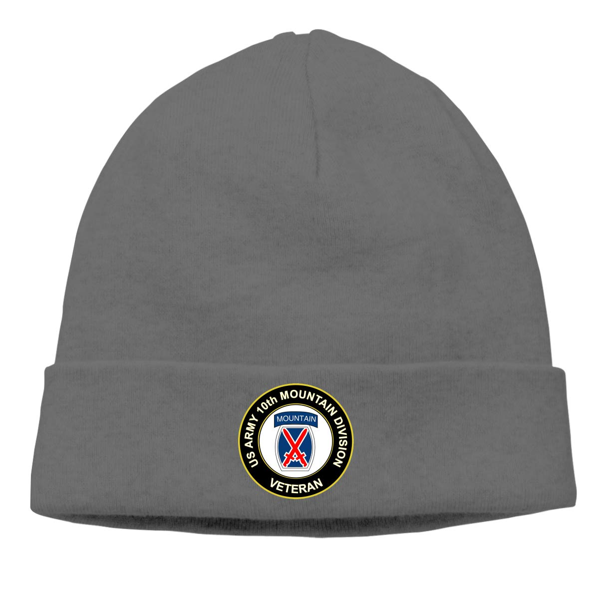 Army Veteran 10th Mountain Infantry Division Beanie Hat Warm Hats Skull Cap Knitted Hat U.S