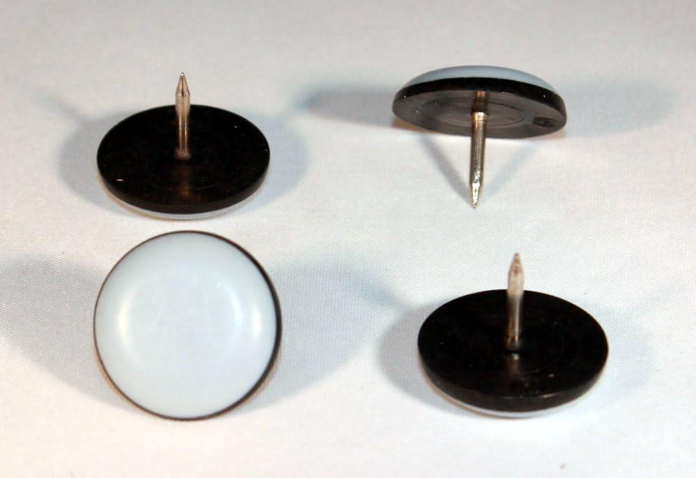 16/x patins en t/éflon /Ø 35/mm/ /5/mm d/épaisseur avec clous avec rev/êtement PTFE teflongleiter Patins Lubrifiant /échelle laflon Chaise