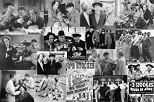 Motivational Art Prints Laminated Three Stooges Movie Collage Poster 24x36 inch