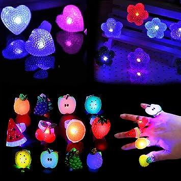 Yuccer 48 PCS Anillos Luces de Dedos Finger LED para ...