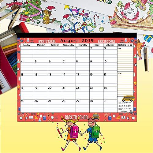 Magnetic Calendar 2019 - 2020 for Fridge by StriveZen, 17x12