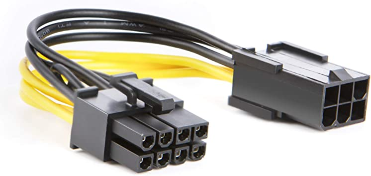 20cm PCI Express PCIe 4 6 Pin to 8 Pin Female Male Power Adapter Cable