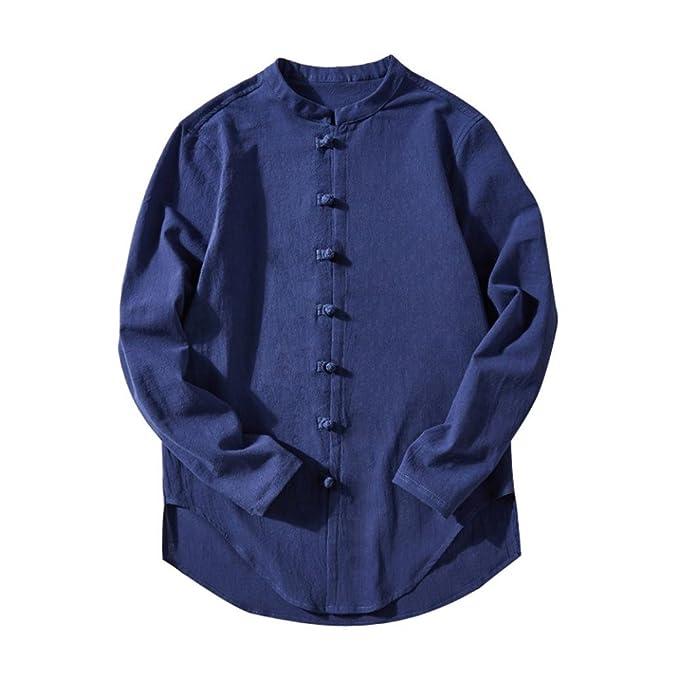 1a26345166cb Herren Hemd T-Shirt,LeeY Herren Business Hemd Casual Langarm-Shirt  Langarmshirt Freizeithemd Hemden Männer Shirt Tops Retro Slim Fit für  Business Hochzeit ...