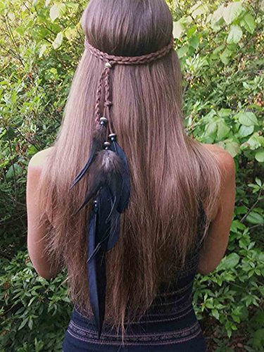 LittleB Gypsy Feather Headband Elegance Indian headpiece for women and (Gypsy Halloween Costume Hair)