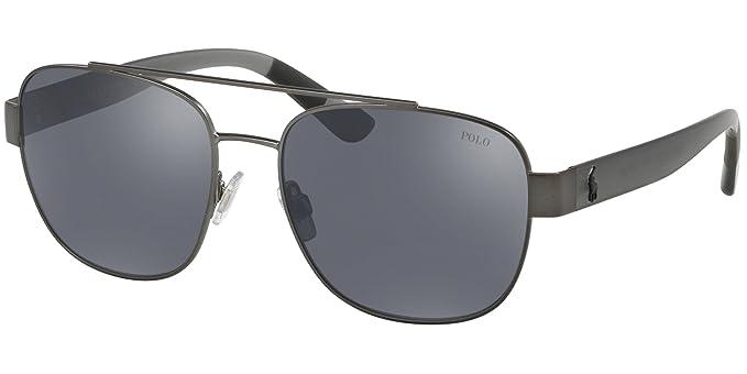 Polo 0PH3119 Gafas de sol, Rectangulares, 58, Semi Shiny ...