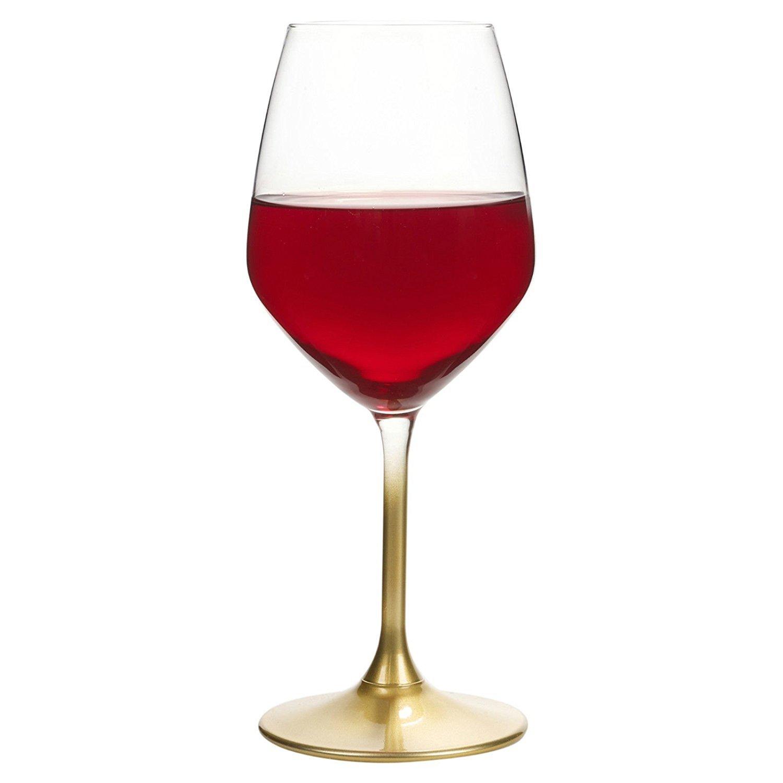 Bormioli Rocco Set of 4 Coloured Stem Champagne Flutes White Wine Glasses Glass - Made in Italy