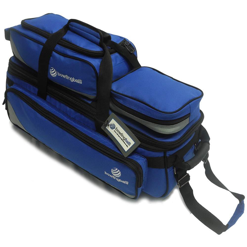 Pyramid Path Triple Tote Roller Plus Bowling Bag (Blue/Grey)