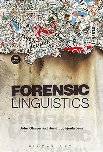 Amazon Com Forensic Linguistics 9781441170767 Olsson John Luchjenbroers June Books