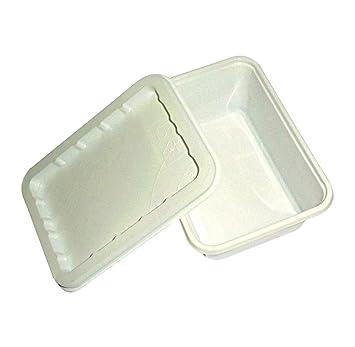 Unidades 100 bandejas Puerta Crema + tapa recipiente para llevar comida patatas mozzarelline aceitunas ascolane