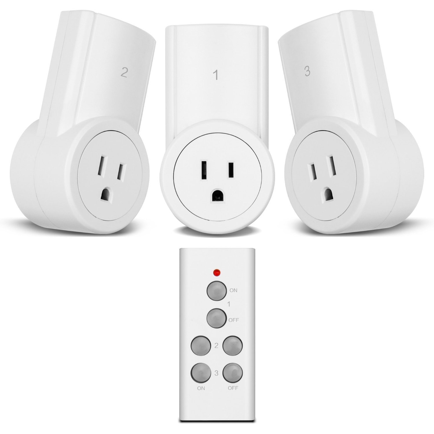 Etekcity Remote Control Outlet Wireless Light Switch for Household Appliances, Unlimited Connections, FCC ETL Listed, White (3Rx-1Tx)
