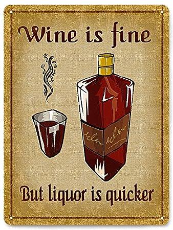 Amazon.com : Metal SIGNS Liquor Whiskey / Funny vintage style ...