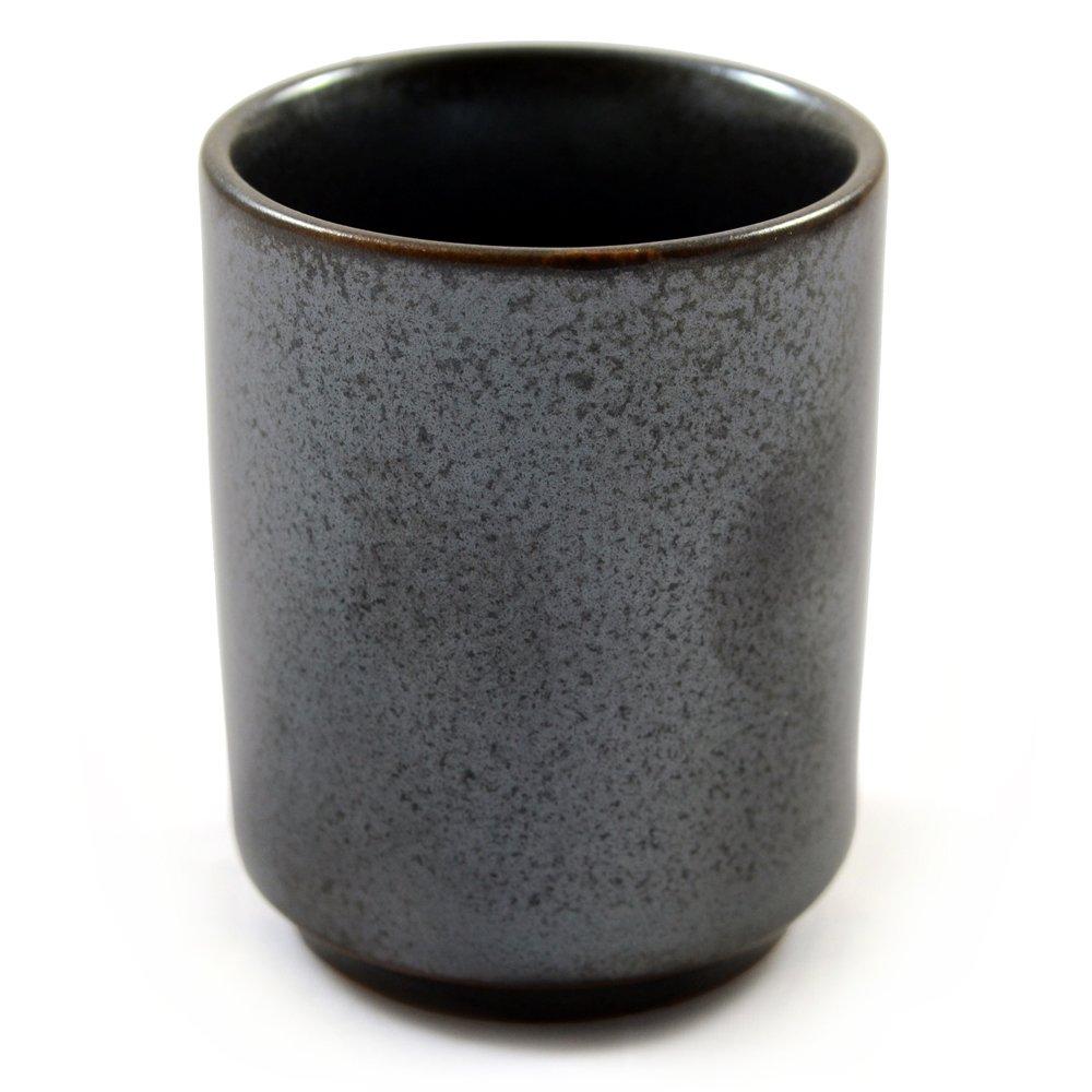 Japonais Sake Coupe En Argent Mat Céramique émaillée Zen Minded