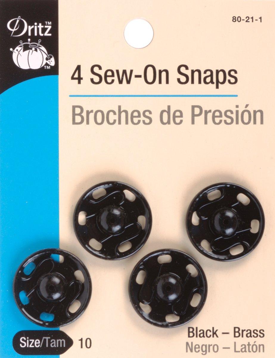 Dritz(R) Sew-On Snaps - Black 80-21-1