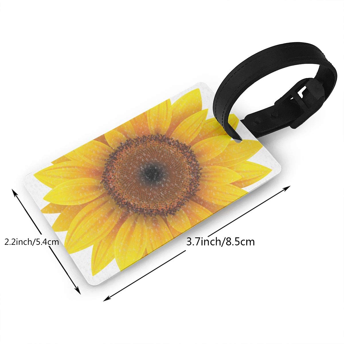 Floral Flower Sunflower1 Luggage Tags Bag Travel Labels For Baggage Suitcase