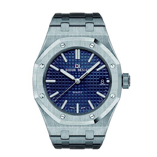 didun acero para hombre relojes primera marca lujo relojes hombres marca de cuarzo relojes hombre Business reloj luminoso Relojes de pulsera resistente al ...