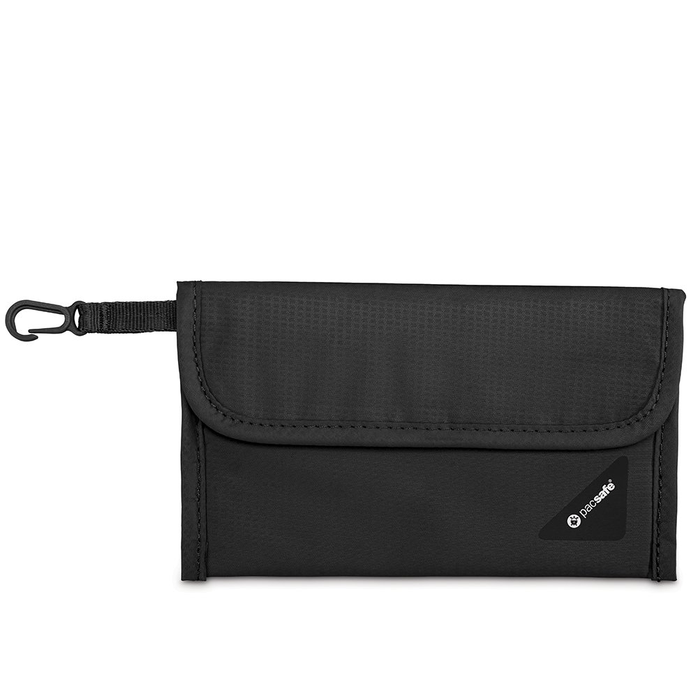 Pacsafe Coversafe V50 Anti-Theft RFID Blocking Passport Protector, Black