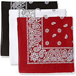 Levi's 3 Pack Printed Bandana Set-blackwhitered, One Size