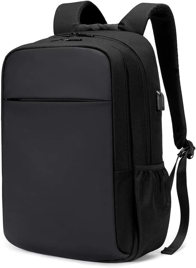 On Sale Oscaurt Travel Laptop Backpack Fit 15.6 Inches Laptop with USB Charging Port (Y-Black)