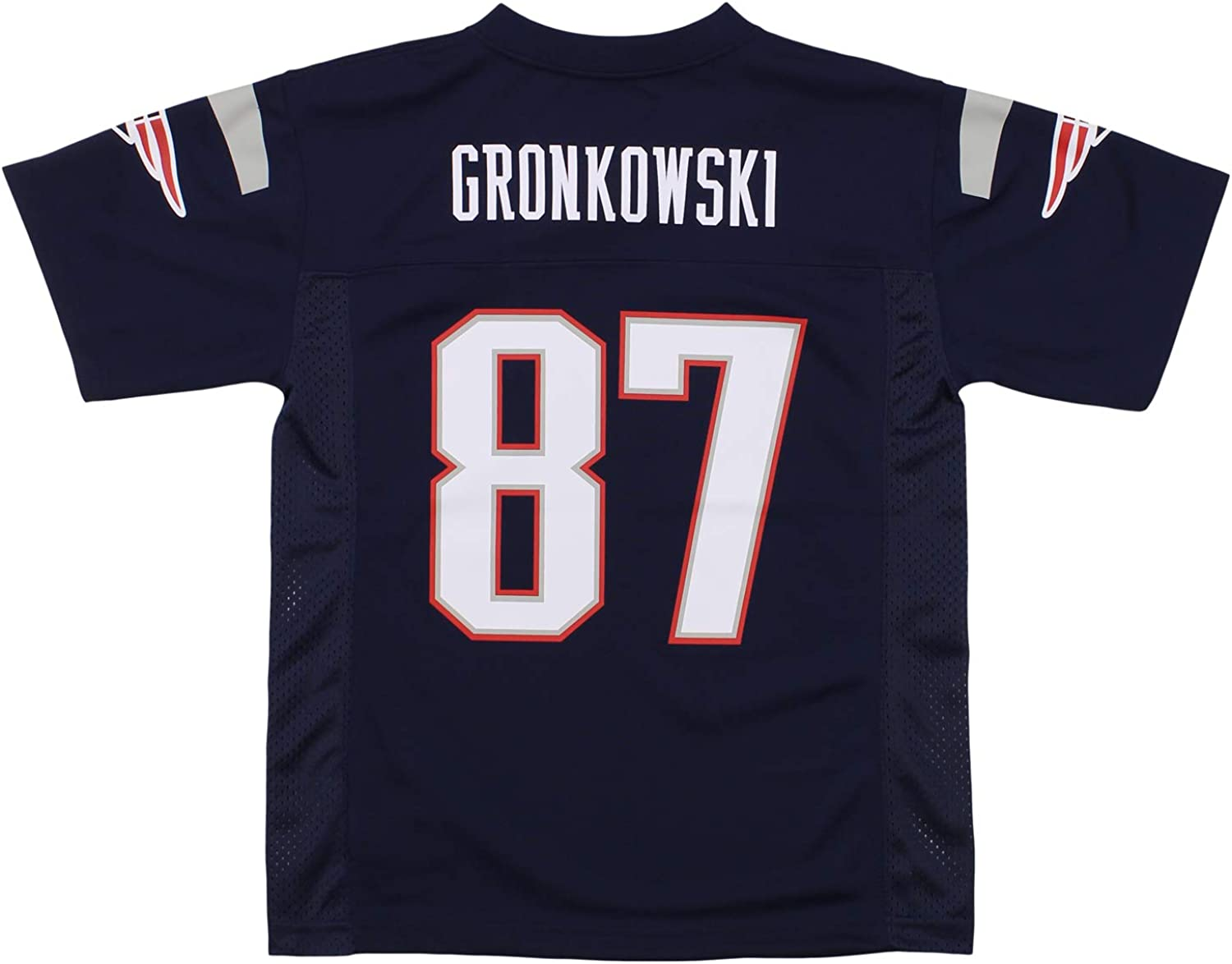 10-12 OuterStuff NFL Youths New England Patriots Rob Gronkowski Mid-Tier Jersey Navy Medium