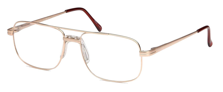 b316c7ce039e Amazon.com  DALIX Mens Bridged Large Squared Prescription Rxable Optical  Glasses Frames (Copper)  Clothing