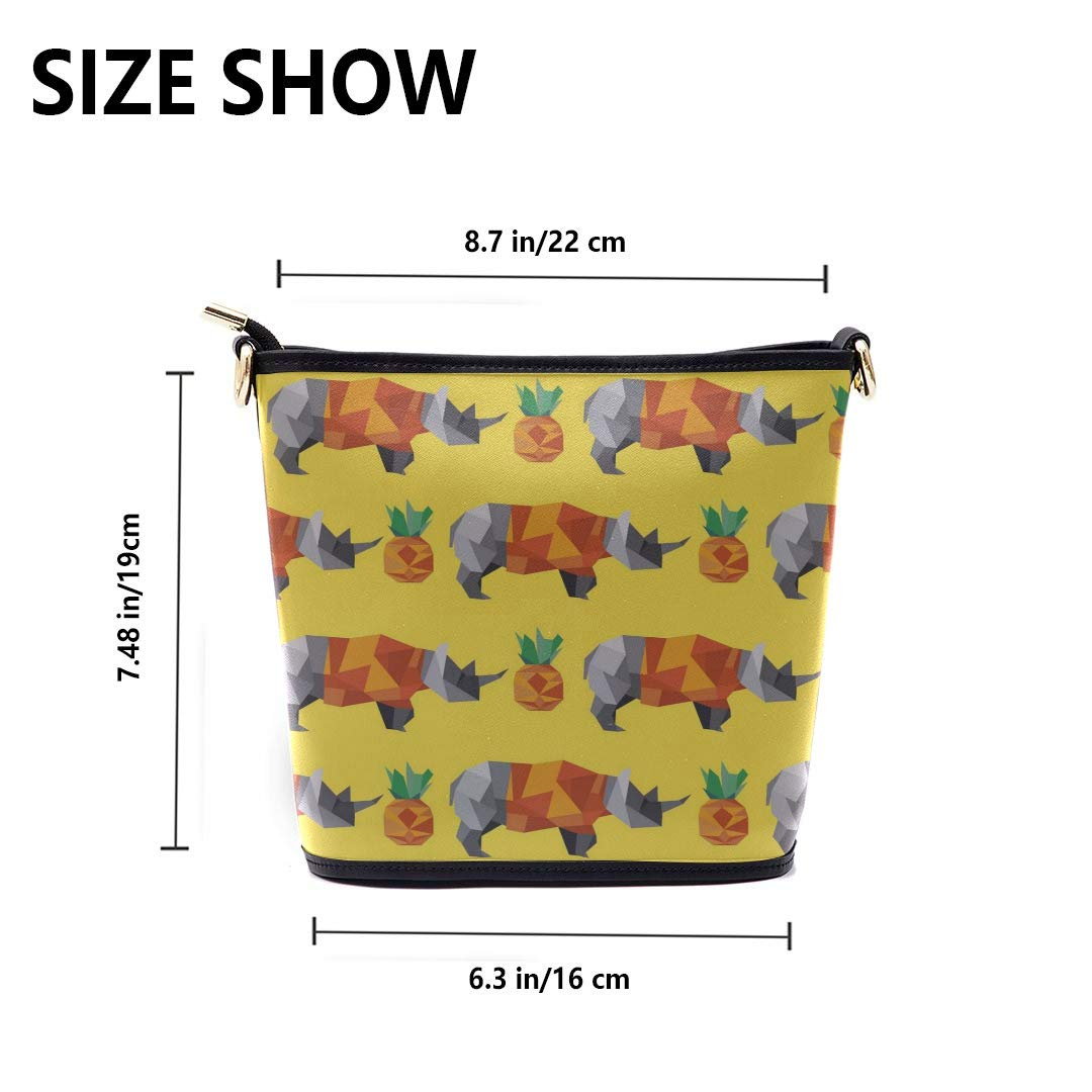 Mens Messenger Shoulder Bag Cute Rhinoceros Girl Cartoon Multi-functional Wristlet Zipper Pocket Small Wristlet Mens Messenger Crossbody Bag Women Bags Crossbody Fashion Men Bag