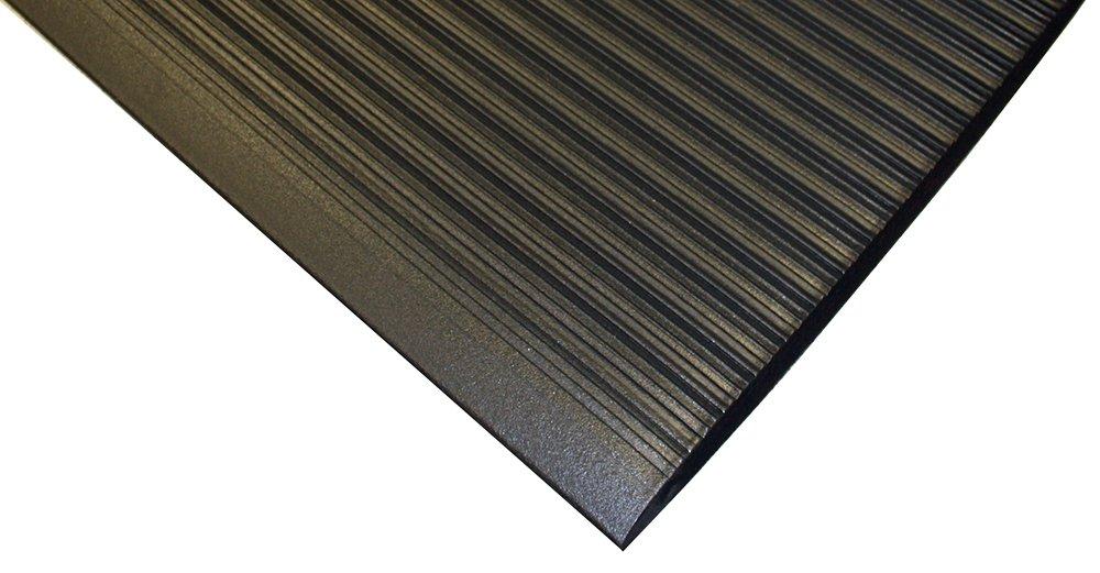 Durable Sof-Spun 5/8'' Anti-Fatigue Floor Mat Roll, 2' x 60', Black