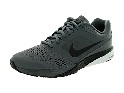 df7963a8fe39 Nike Men s Tri Fusion Run Dark Grey Black White Running Shoe 9.5 Men ...