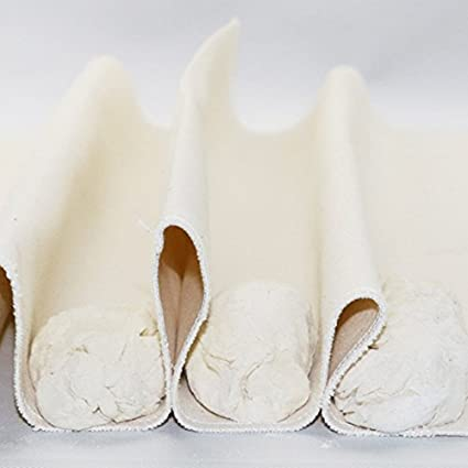 2 pieza Panadero Couche – Lino Proofing paño para baguettes y pan, 36*45cm