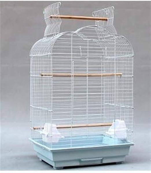 ZANGAO Nido Decorativo Jaula de pájaro Estilo de la Jaula del pájaro del Loro del Juguete Escalera de pájaro del Arte del Hierro Resistente Duradero Gran Espacio Mediana Jaula de pájaro: Amazon.es: