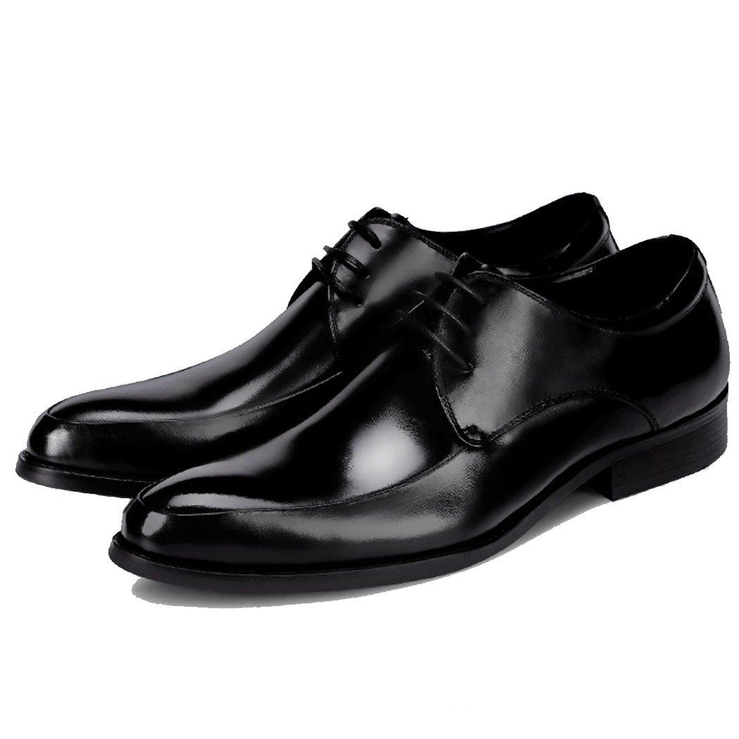 GAOLIXIA Zapatos Formales de los Hombres Zapatos de Negocios de Cuero Genuino Vestido Zapatos de Banquete de Boda Zapatos Casuales Británicos de Gran Tamaño 37-46 (Color : Negro, Tamaño : 44) 44 Negro