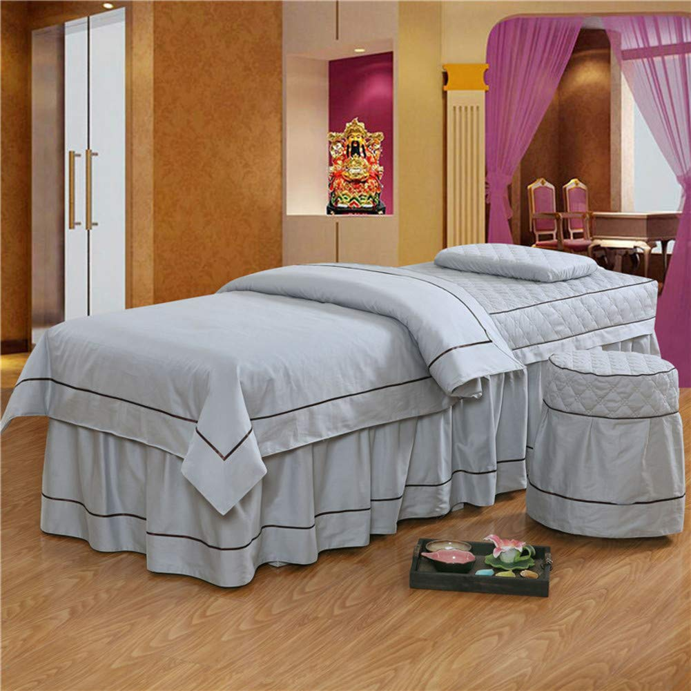 european style solid color beauty bed cover massage table sheet sets