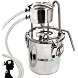 3Gal 12L Alcohol Distiller Moonshine Still Build-in Thermometer Still Kits Spirits Boiler Home Brewing Kit Stainless Steel (3Gal / 12L)