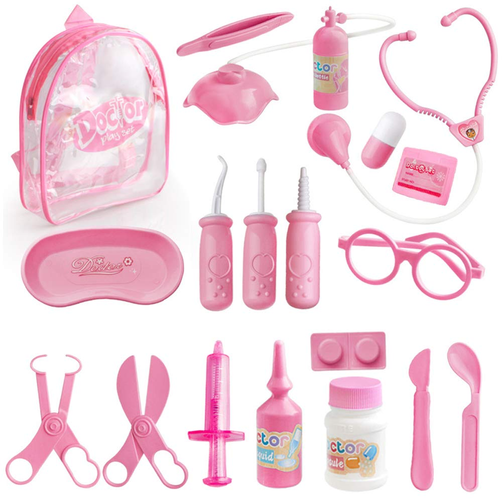 Kakasi Kids Doctor Kit for Girls, House Doctor Toy for Girl 3-6 Years Old Best Birthday Gift for Girl Boys Educational Role Play Toy Present for Girls Age 2 4 5 Doctor Set for Kids Play Doctor Kit