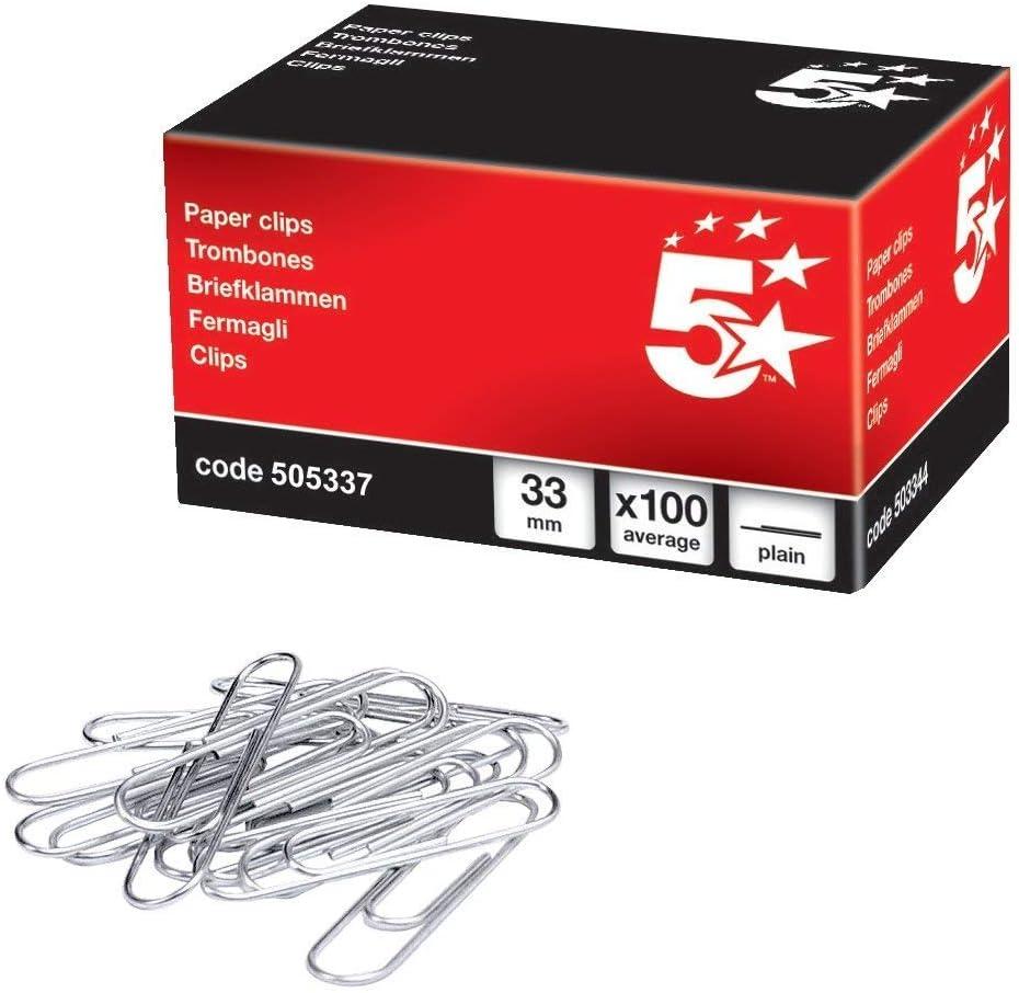 APLI 11714 - Clips galvanizados nº2 32 mm 100 u.: Amazon.es: Oficina y papelería